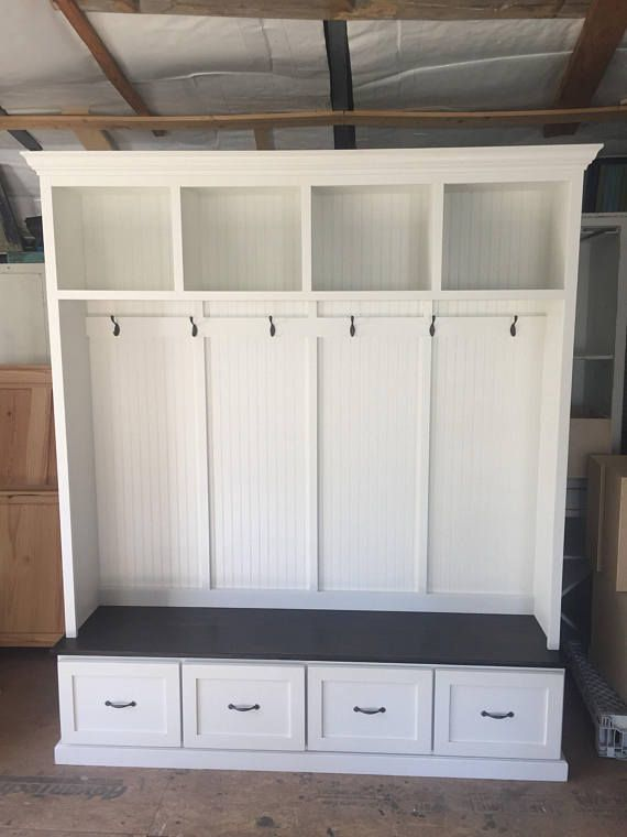 The Georgia 2 Section Mudroom Bench Mudroom Furniture Diy