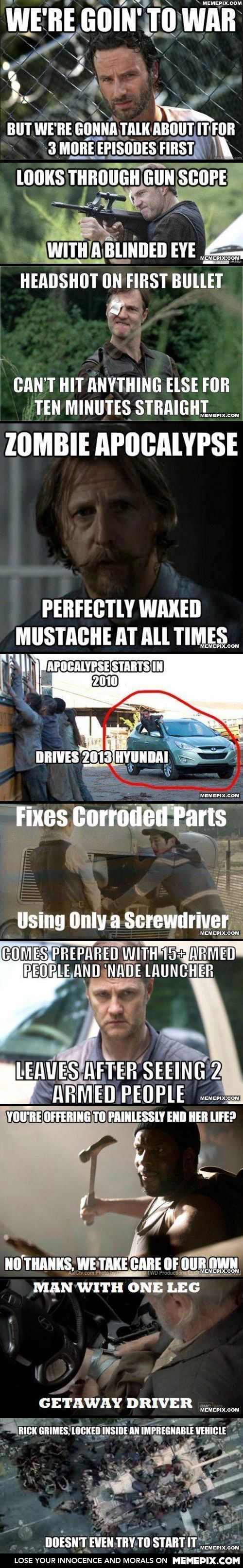 Collection of walking dead plot holes Oh WD!!
