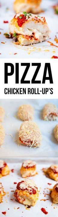 Pizza Chicken Roll U Pizza Chicken Roll Ups recipe a tender...  Pizza Chicken Roll U Pizza Chicken Roll Ups recipe a tender chicken breast stuffed with mozzarella cheese pepperoni and marinara sauce. Easy healthy and delicious! A dish the whole family will love. Recipe : http://ift.tt/1hGiZgA And @ItsNutella  http://ift.tt/2v8iUYW