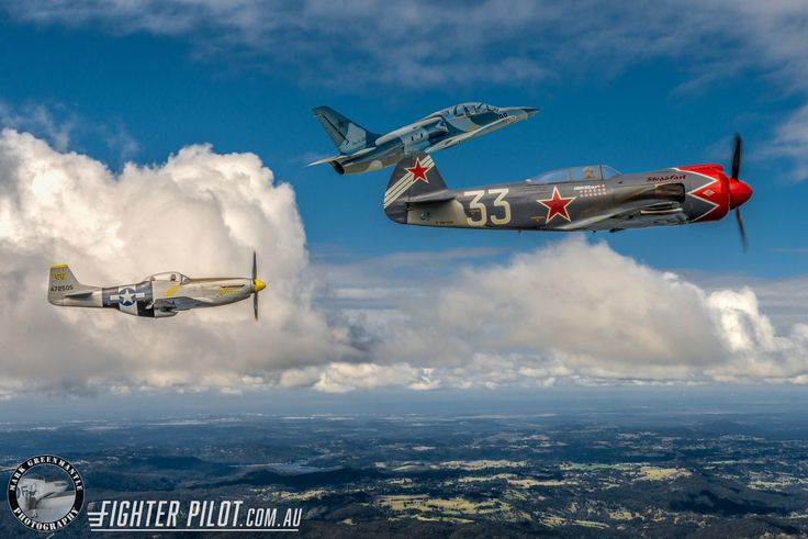 Fighter Pilot Yak-3 Steadfast, P-51D Mustang and L-39 Albatros. Photography by Mark Greenmantle Photography.