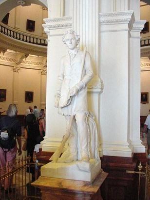 Stephen F. Austin Statue, State Capitol Building, Austin, Texas by Elizabet Ney