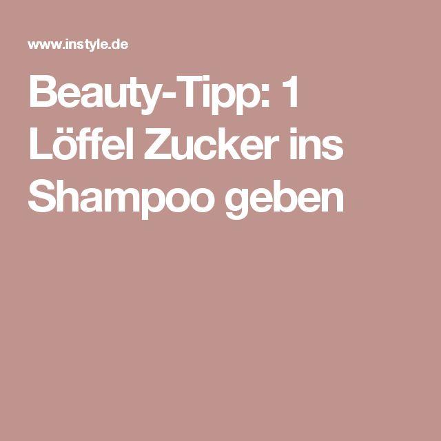 Beauty-Tipp: 1 Löffel Zucker ins Shampoo geben