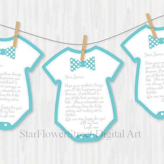 Little Man Baby Shower Bow Tie Wishes for by StarFlowerStreetDA