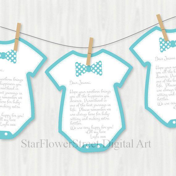 Little Man Baby Shower Bow Tie Wishes for by StarFlowerStreetDA