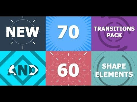 70 Transitions Pack After Effects Template Youtube