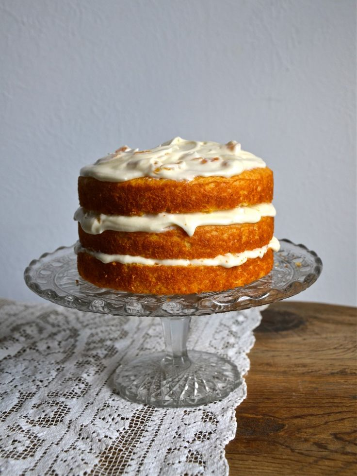 Cornmeal Cake with Honey Apricot Frosting (sour cream and dried ...