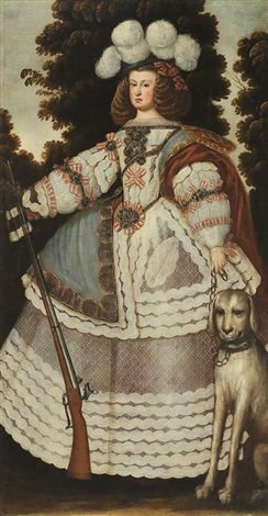 anonymous-spanish-(17)-portrait-of-mariana-of-austria-in-hunting-costume.jpg (244×470)