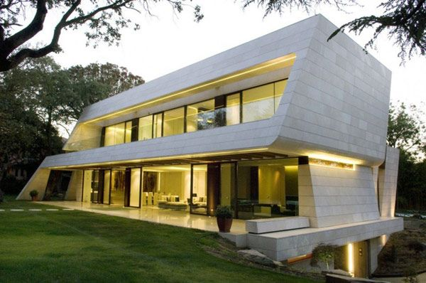 A-Cero Residential Project Defined by White Marble and Curving Shapes: Memory House  #architecture