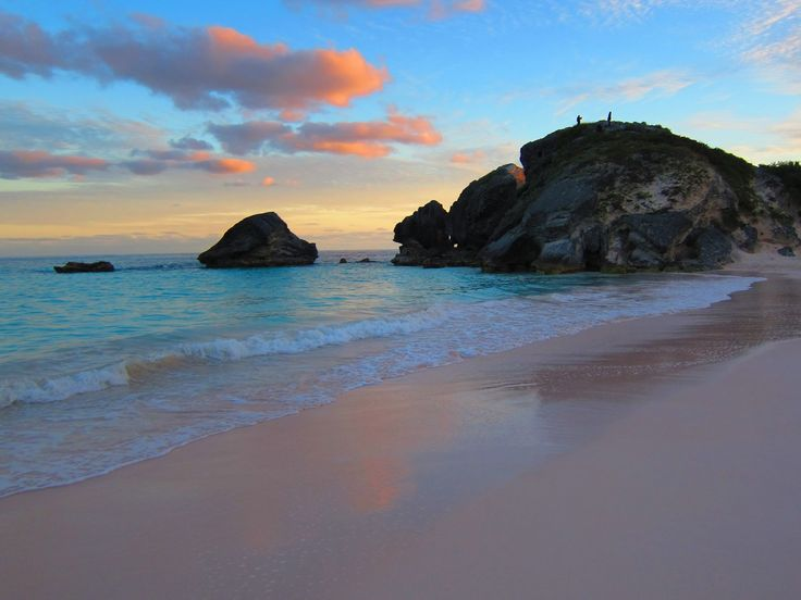 Gorgeous Sunset On A Beautiful Beach In Bermuda