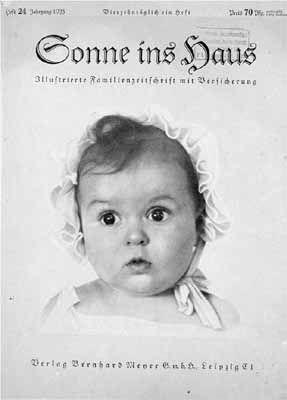 """PIÉGÉ – Le parfait bébé aryen était juif Le cliché représentant le parfait bébé aryen, qui devait figurer en """"une"""" du magazine nazi Sonne ins haus (littéralement : du soleil dans la maison), avait été choisi par Goebbels lui-même, parmi cent photographies. Quatre-vingts ans plus tard, le quotidien allemand Bild rapporte que l'enfant était en réalité juif. Source : United States Holocaust Memorial Museum"""