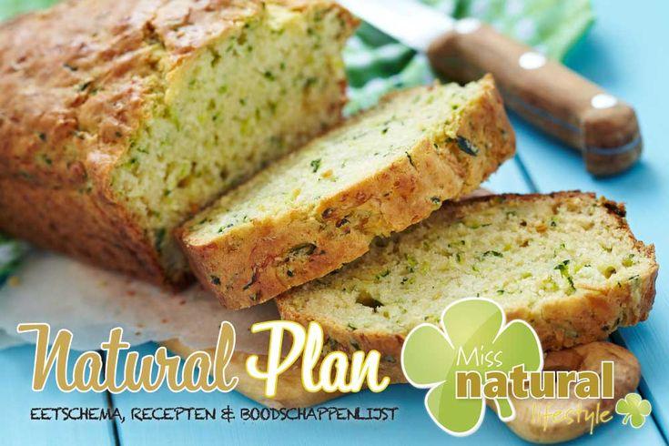 Recept Courgette Brood uit het Miss Natural Plan november http://urly.nl/b9y