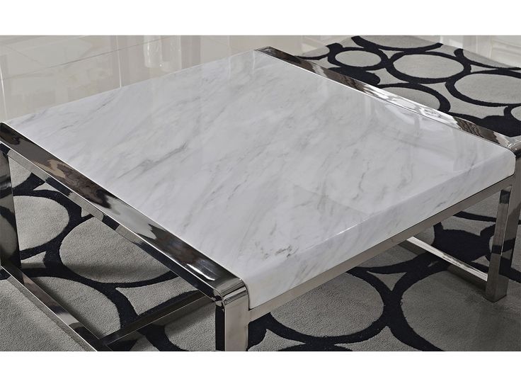 i rustfritt og polert stål med syntetisk marmorArt nr: CO0168Serie: SliverlineDimensjoner (cm): B:100 x D:100 x H:45Materiale: Vi benytter rustfritt stål grad 202 i denne modellen.