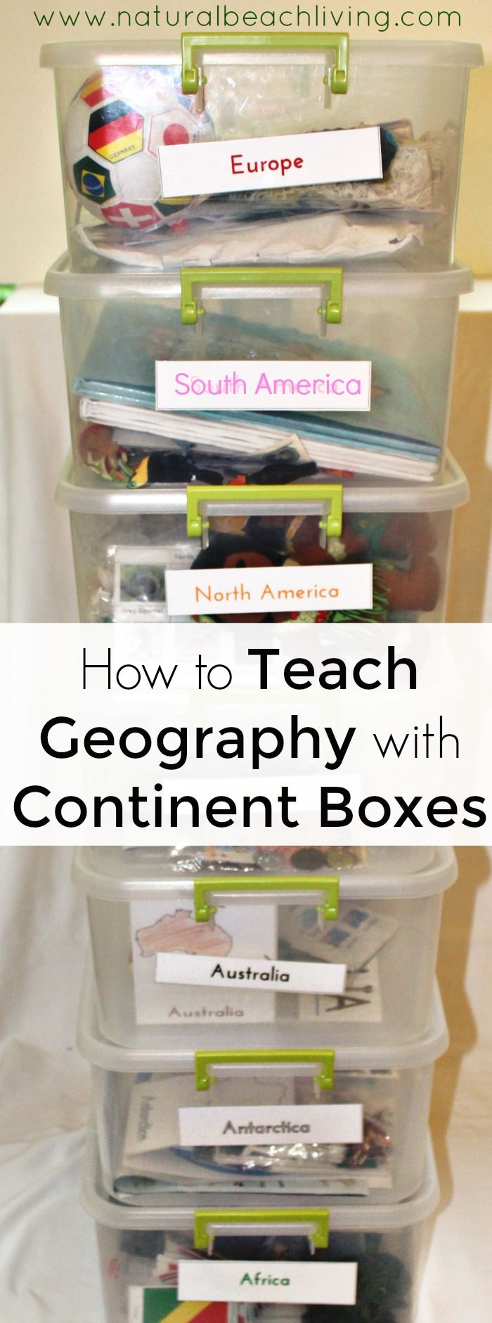 How to Teach Geography with Continent Boxes, DIY Montessori Continent Boxes, A multi-sensory approach to learning with kids, Multi-Culture ideas with kids