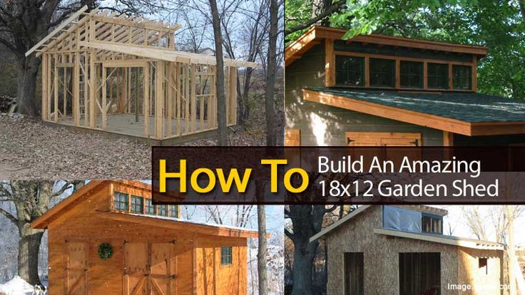 Build An Amazing 18 215 12 Garden Shed Gardens Yards And