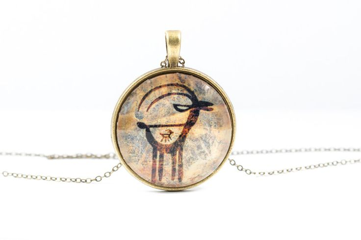 Lockets – Antelope Necklace [Cave Art Collection] – a unique product by Art-Of-Nature on DaWanda