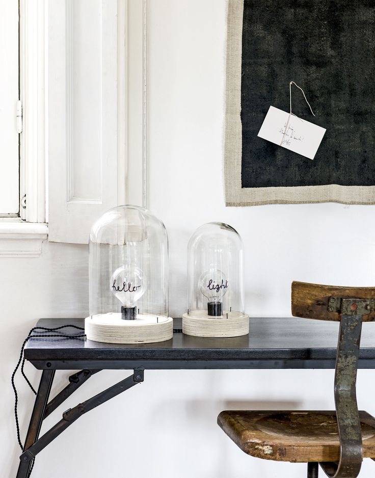 lamp | DIY | stolp | glass | light | Home | Upcycle | vtwonen.nl