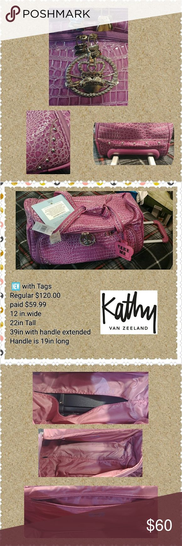 🌸🆕 WT!! KATHY BAN ZEELAND🌸 ⏪Travelware Luggage Bag ⏪Never used ⏪2.5 Gusset Expansion ⏪ 25% additional packing capacity ⏪Exquisite Attention to Detail  Serious Buyers, Send your best offer. No LOW Balling, Please. Thanks Kathy Van Zeeland Other