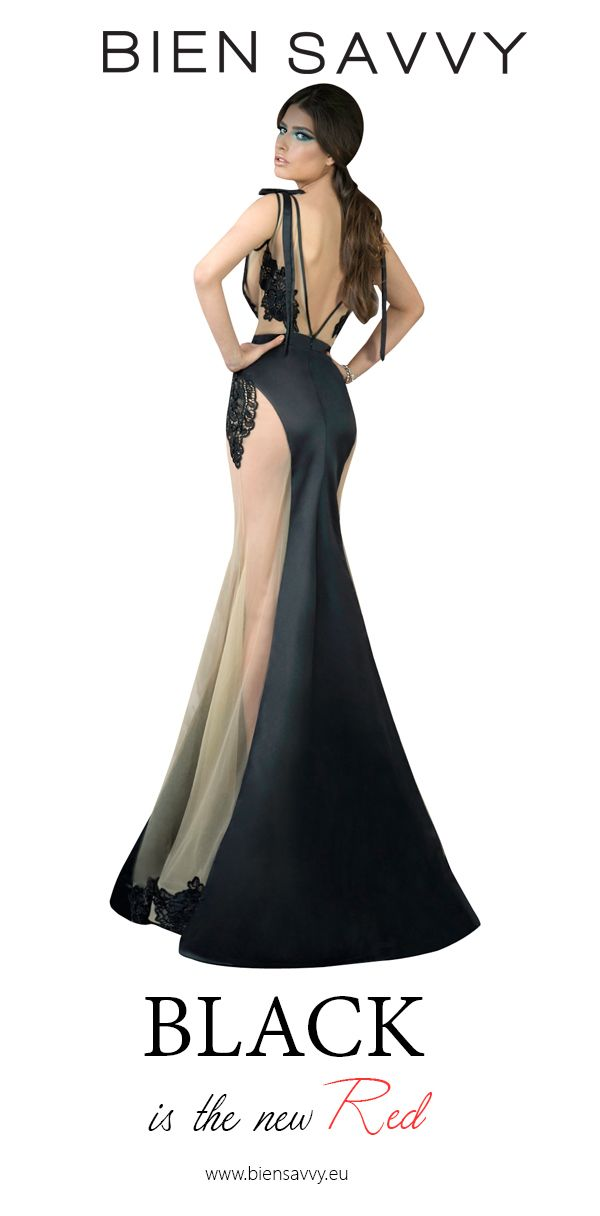 Black is the new Red.  Follow The Moon, black evening dress by BIEN SAVVY