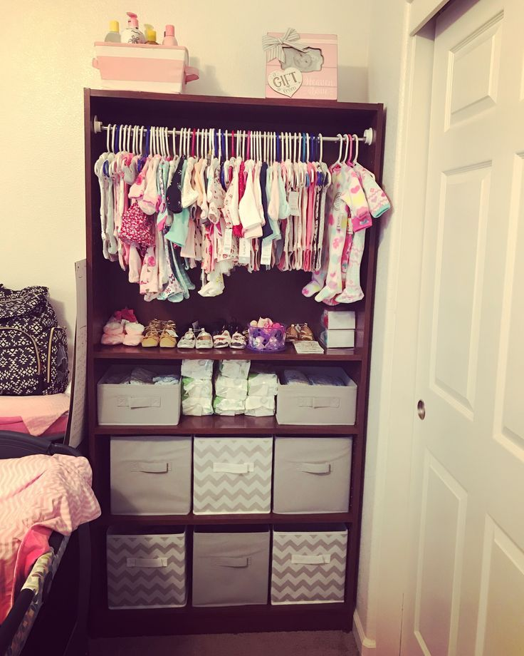 Turned An Old Bookcase Into This Turned An Old Bookcase Into This Source Pinterest And Uploa Baby Room Organization Baby Girl Bedroom Baby Girl Nursery Room