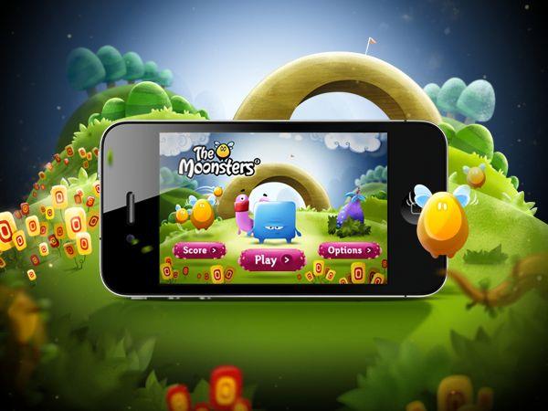 iphone app game ui