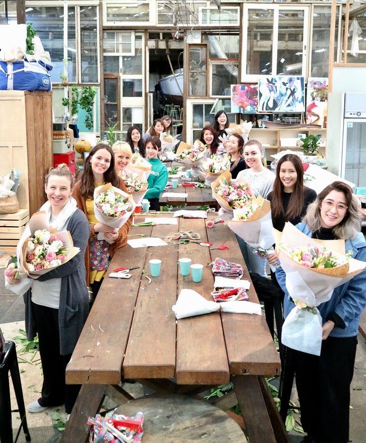The perfect way to spend weekend morning! June floral workshops were huge success #flowerworkshopsydney