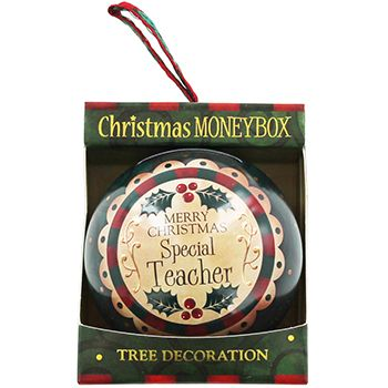 Personalised Money Box Bauble - Special Teacher   Money Boxes at The Works