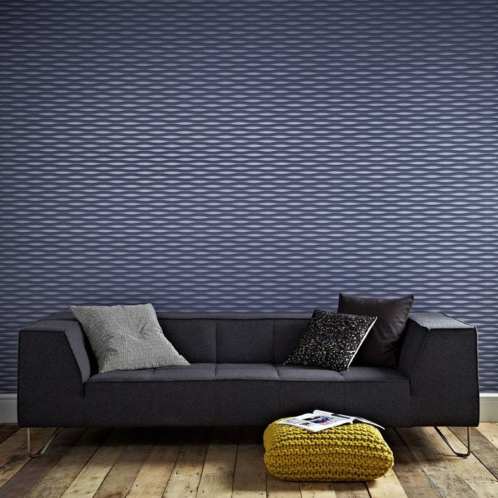 Lucid Blue Striped Wallpaper - Stripes Wall Coverings by Graham  Brown