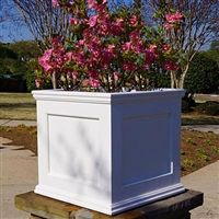 PVC Planters: Large Rectangular Outdoor Self-Watering Planter Boxes