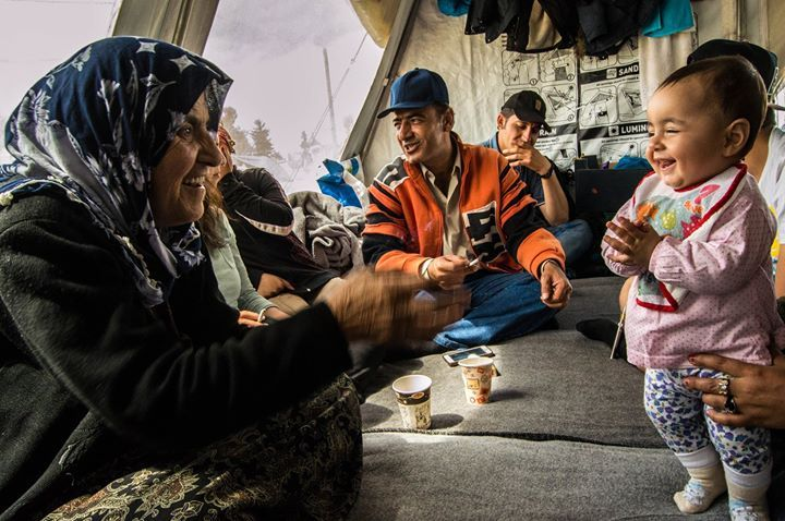 Hamo family  - a large kurdish family in Idomeni. I visited them while working with Marketa and Adela an independent doctor and a translator. Its very difficult do describe peacefull and warm athmosphere of which I was just a fleeting witness. Their mother Zakia who is suffering from cancer is one of the most inspiring people that I met in the camp. Despite her condition I felt from her some kind of inner peace which is so rare to find in people and world itself.