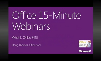 Office Webinar : What is Office 365?