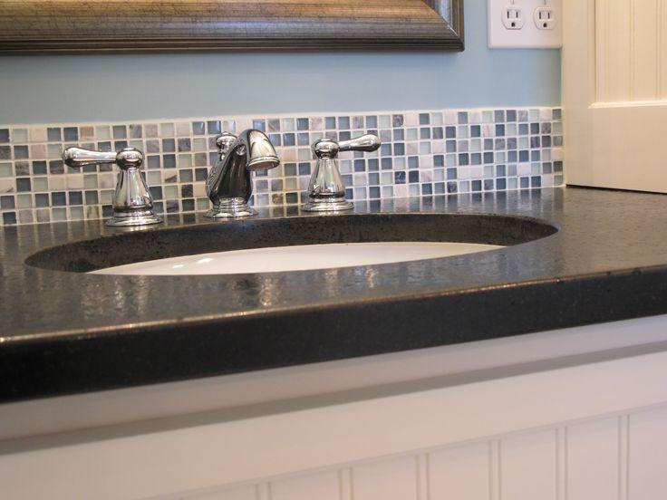 Great Bathroom Backsplash (love The Colours!) Glass Mosaic Tile ...