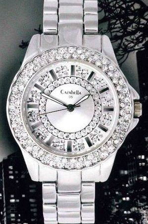 Silver Ladies Watch with Clear Crystals - https://www.facebook.com/pages/Cazabella-Designer-Costume-Jewellery-George-Garden-Route/1393677114241334?ref_type=bookmark