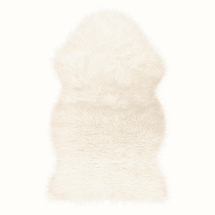 White Faux Fur Rug Kids Decor by Graham and Brown