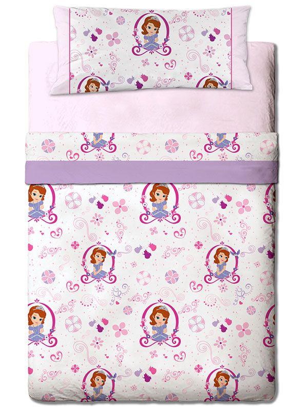 Sabanas de Franela Infantiles Sofia Pink Gamanatura, con un divertido diseño en el que destaca la majestuosa princesita de Disney Sofia Pink.