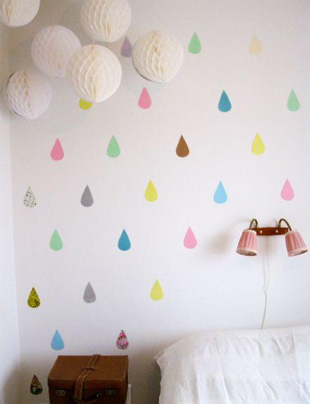 DIY Raindrops wall by RAIRAI
