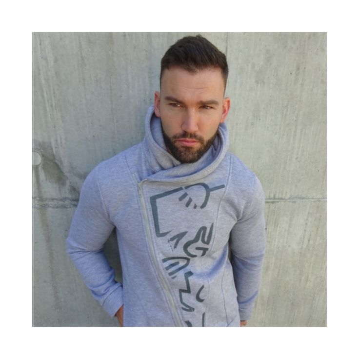 'HALF CUT' GREY ZIP HOODIE #2 www.fform.uk.com #fform #hoodie #grey #apparel #newcollection #clothing #new #handmade