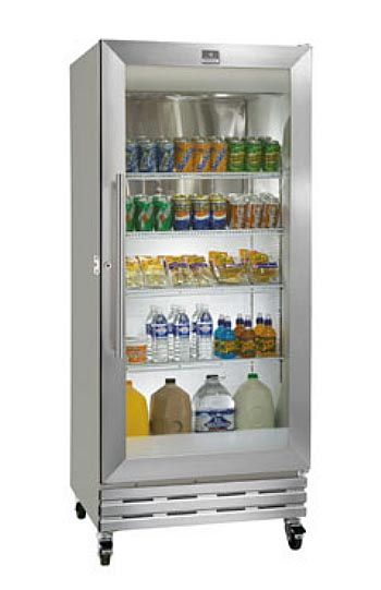 I want this glass door frig in my kitchen. Industrial equipments in residential places can look good right! GLASS DOOR Reach-In Refrigerator Manufactured By: Kelvinator
