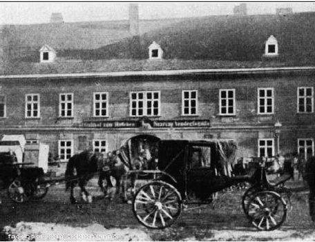 Az Arany Szarvas fogadó, a XIX. század végén
