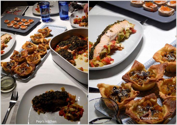A healthy dinner for 4 http://www.pepiskitchen.blogspot.gr/2015/01/rolakia-me-solomo-kai-avga-solomou-ygieino-gevma-gia-4.html