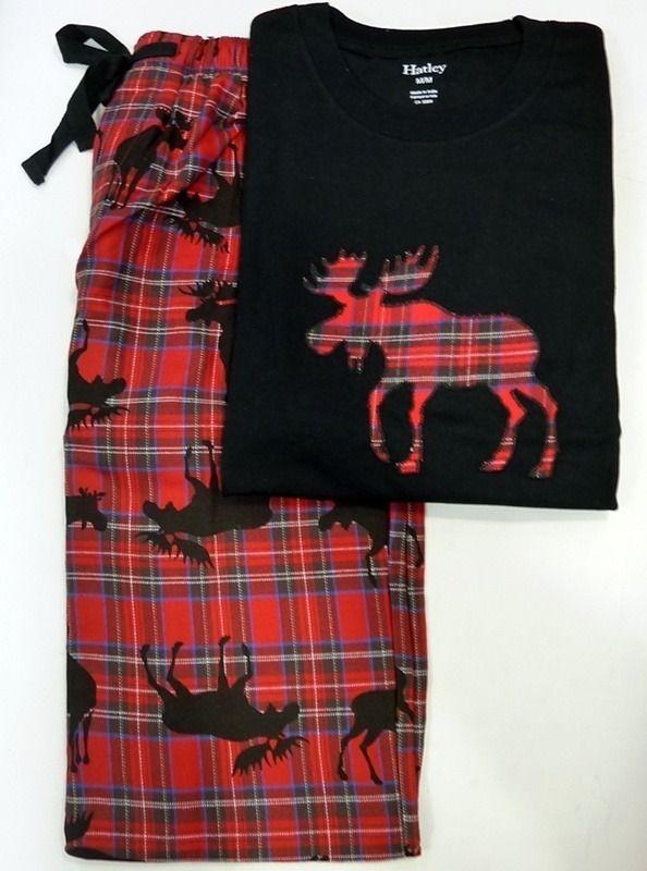 Hatley Pijama Moose on Plaid #hatley #pijamas #HOM #menswear #mensunderwear #ropainterior #modahombre