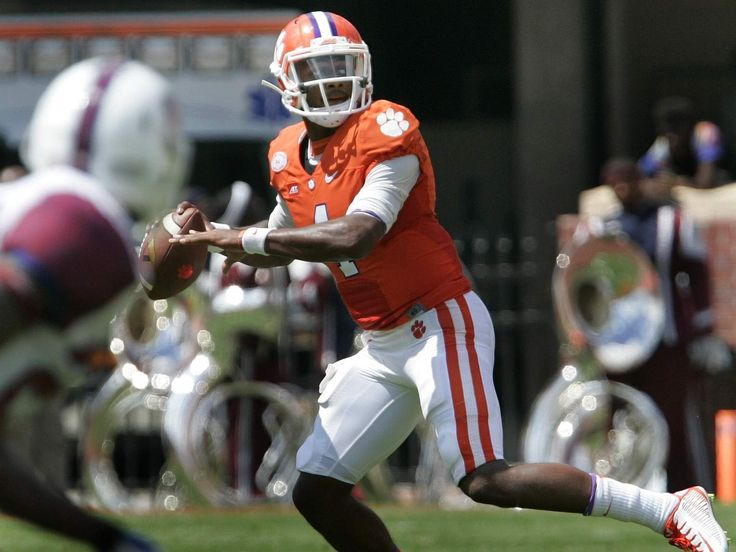 Clemson quarterback Watson the talk of the town