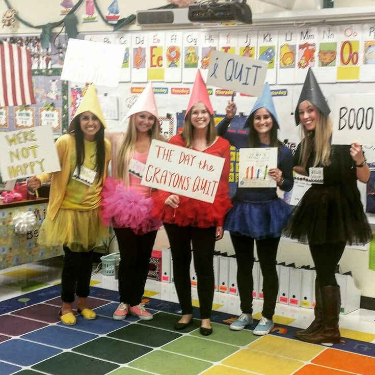 The day the crayons quit group costume!