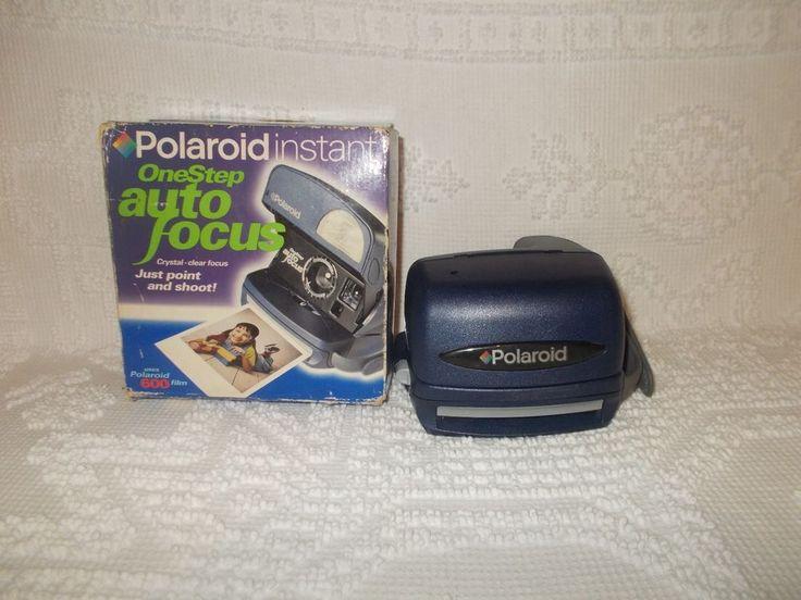 Polaroid One Step Auto Focus Blue Instant 600 Film Camera W/ Box  #Polaroid