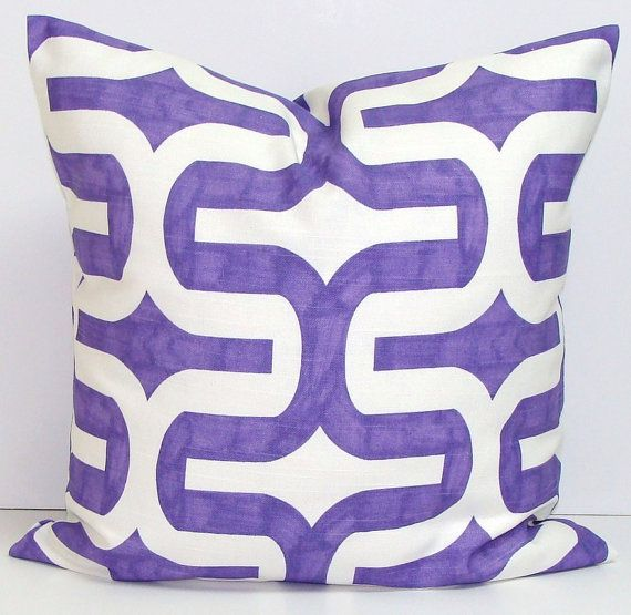Purple Pillows.ALL SIZES.Pillow.Printed Fabric by ElemenOPillows, $14.00