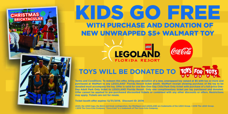 I tell people all the time that the best LEGOLAND California deal is the KIDS GO FREE deal promotion! Especially if you only need one day tickets for visiting guests. You get a FREE CHILD TICKET with a paid regular priced adult ticket.