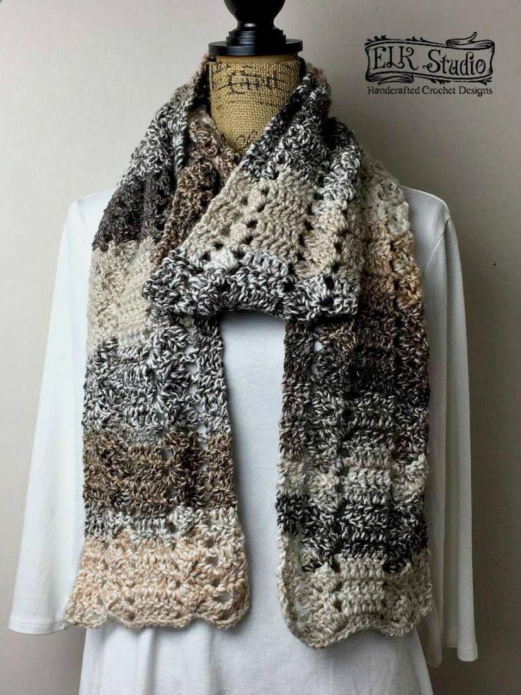 Mountain Land Scarf - ELK Studio - Handcrafted Crochet Designs