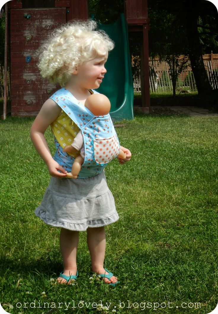 Ordinary Lovely: A Baby Doll Carrier for Clare (sewing project show and tell)                                                                                                                                                     More