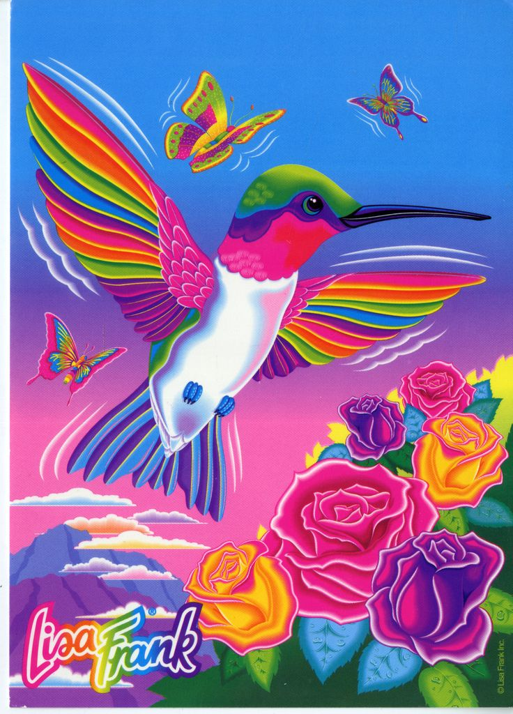 Lisa Frank Hummingbird