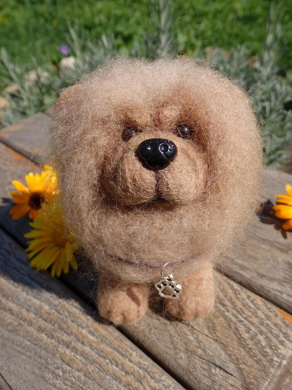 Chow Chow Chiengora Dog Wool Felt Projects Miniature Chow Chow