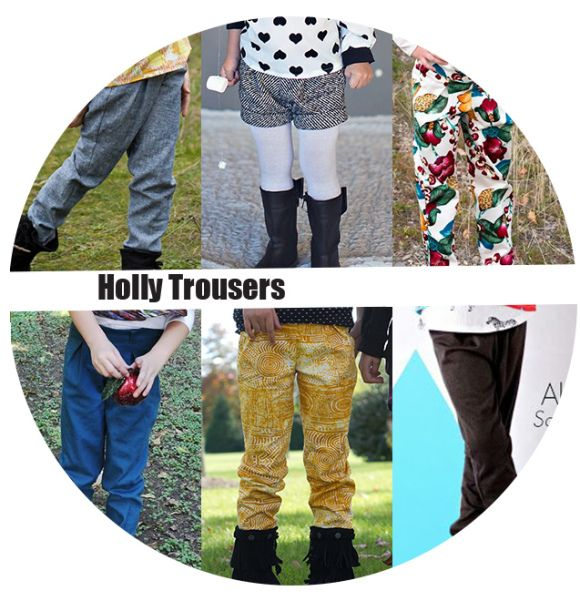 Holly Trousers sewing pattern for girls